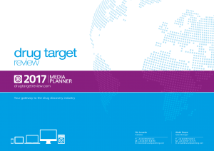 Cover page of media planner for advertising in the Drug Target Review publication