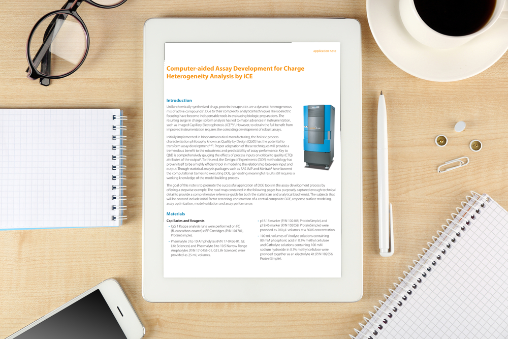 App Note- Computer-aided Assay Development for Charge Heterogeneity Analysis by iCE