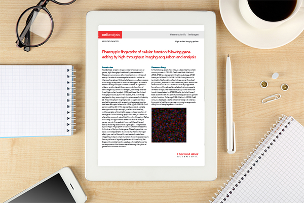 Thermo Fisher Scientific - Phenotypic fingerprint of cellular function