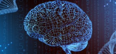 'the digital brain' - computer image of the brain made up of blue electrical wiring
