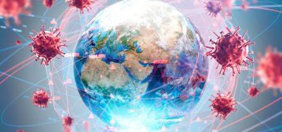 coronavirus particles surrounding the globe