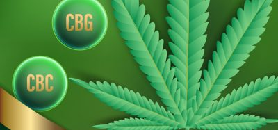 CBC and CBG nest to cannabis leaf