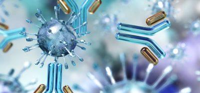 Antibodies attacking virus