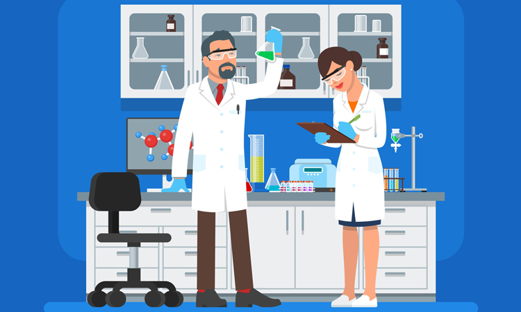 Scientists-in-lab-vector