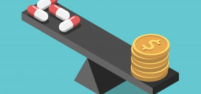 Concept - the cost of medicines